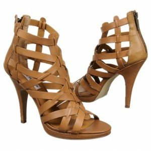 "Amazon.com: Women's Steve Madden High Heel Gladiator Sandals ""Sanndi"" - Tan Leather: Shoes"