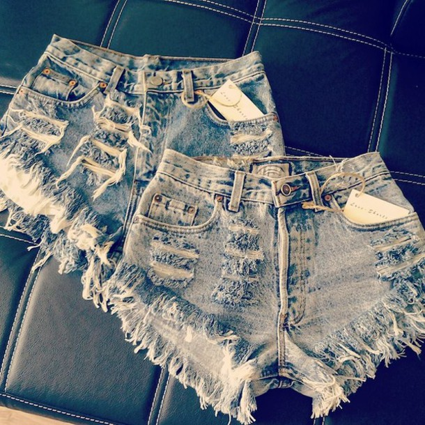 e23b1826 shorts vintage summer studs levi's levis short denim ripped jeans sexy swag  High waisted shorts calvin