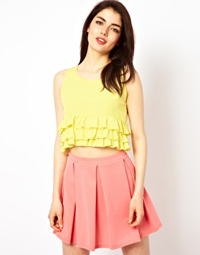 Oh my love frill crop top at asos