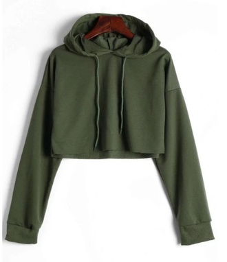 jacket girly green olive green crop tops crop cropped sweater hoodie