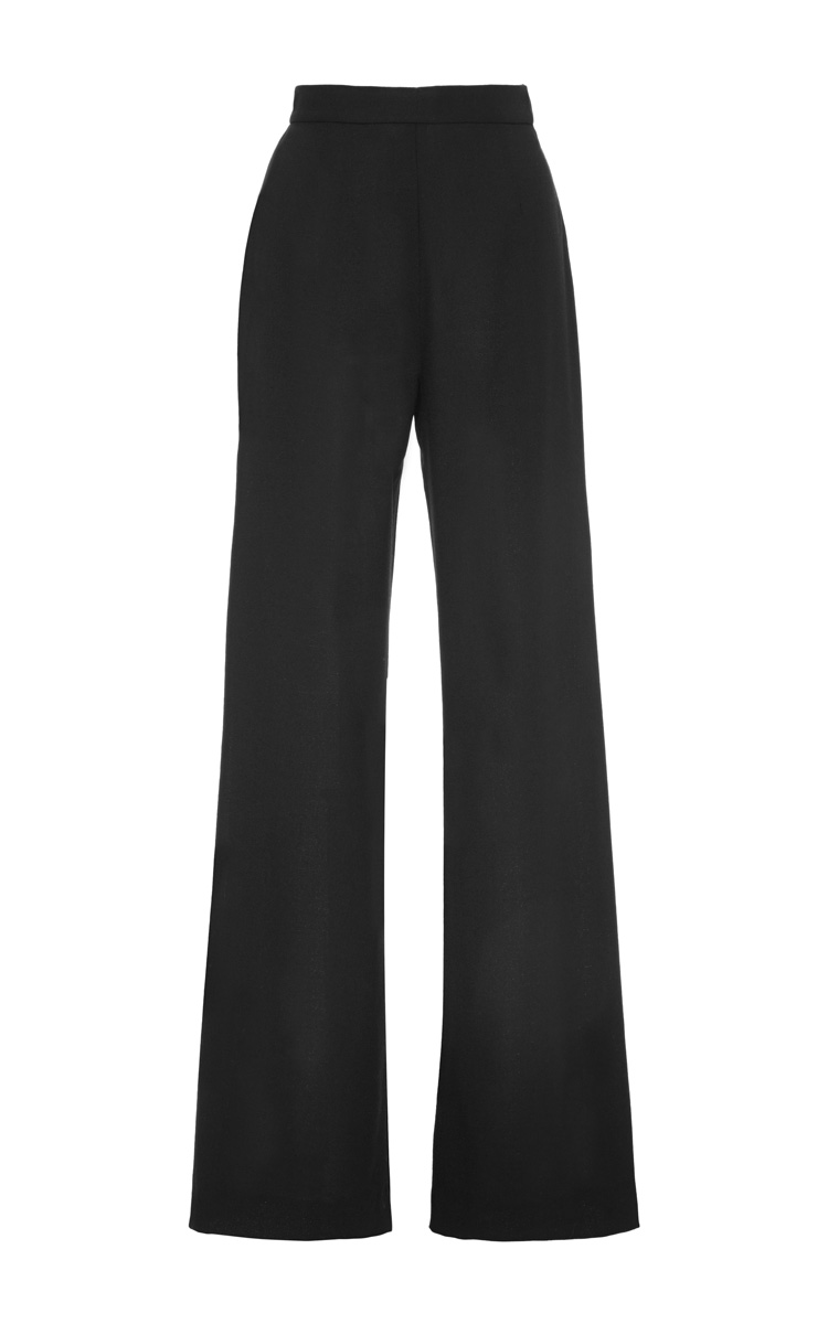 Payton Light Wool Crepe Wide Trousers by Mother of Pearl - Moda Operandi