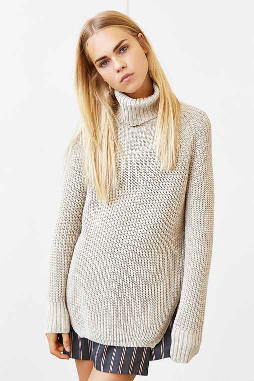 Silence Noise Harley Shirttail Turtleneck Sweater , Urban Outfitters