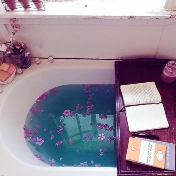 tray romantic bath bomb home accessory lifestyle cosmetics lush bathroom book