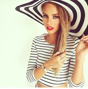 jewels,silver,bracelets,ring,gemstone,blonde hair,hat,stripes