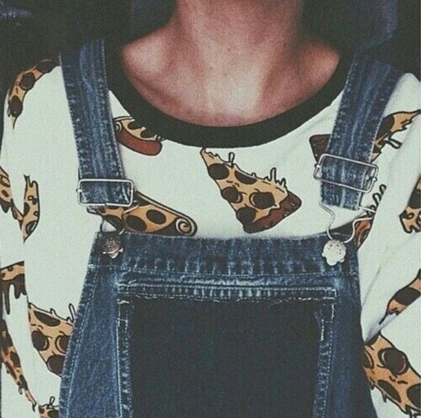 t-shirt shirt top t-shirt pizza pizza shirt food food shirt food stylish pants style style trendy trendy trendy on point clothing overalls blogger fashion inspo fashion inspo casual tumblr outfit tumblr shirt tumblr top