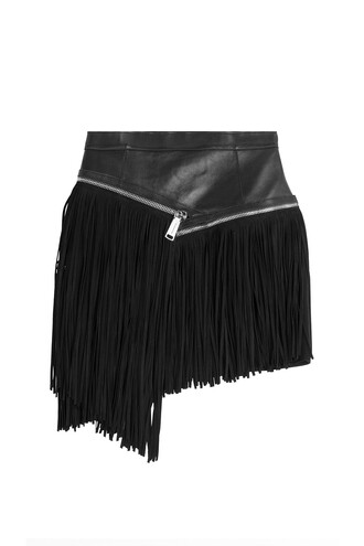 skirt mini skirt mini leather suede black