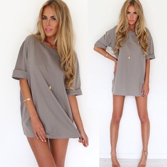 blouse grey sweater dress
