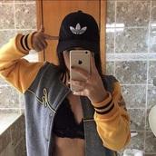 jacket,blackandyellowjacket,bad bitches link up