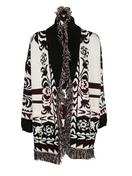 cardigan knitted cardigan cardigan white black sweater