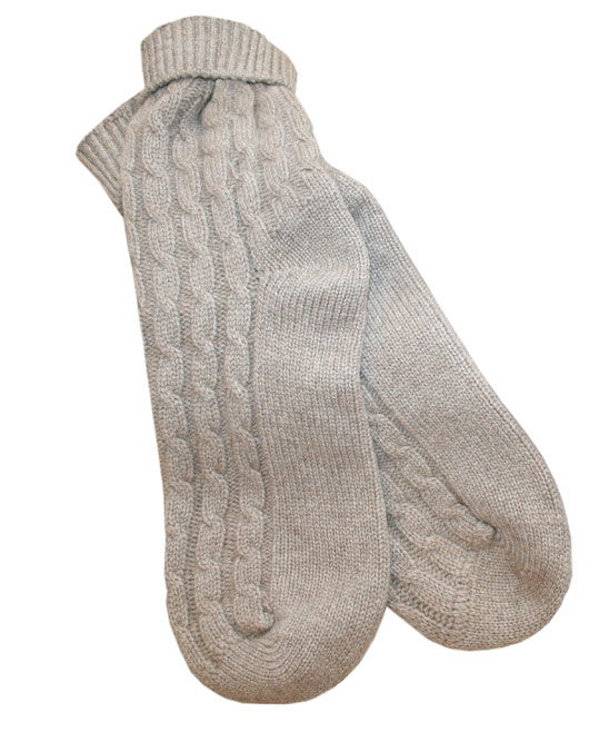 Bamford Grey Cashmere Travel Socks | Sleepwear by Bamford | Liberty.co.uk
