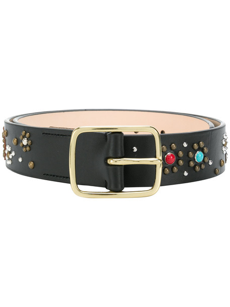 embellished belt black