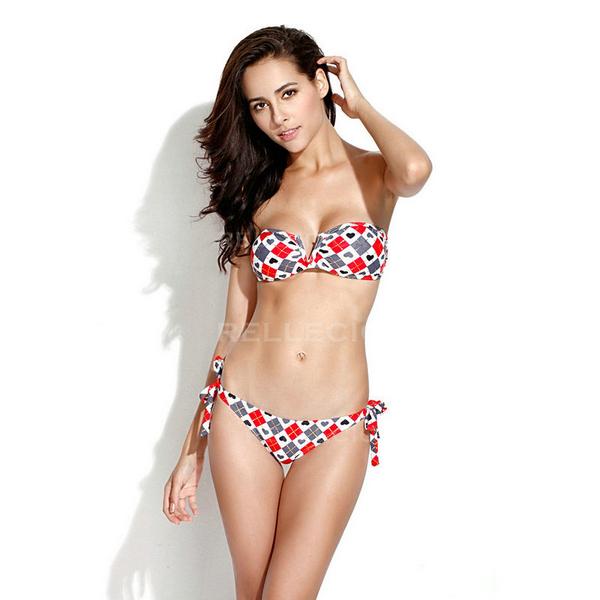 Relleciga Losange Maillot DE Bain Bikini Pigeonnant Sexy Femme Swimsuit Swimwear | eBay