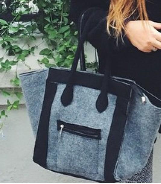 bag grey black