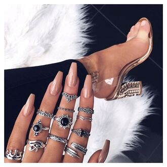 jewels tumblr knuckle ring ring silver ring sandals sandal heels high heel sandals jewelry silver silver jewelry boho boho chic boho jewelry bohemian