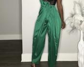 pants,green,silk,sexy,women,love,pretty,ineedthisdressinblack,ireallylike it pls