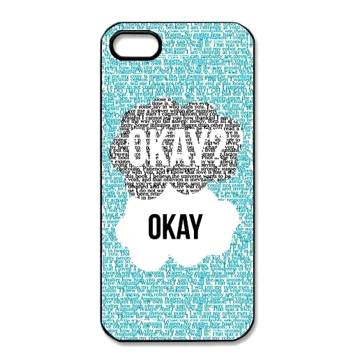 So Much Love Hard Cover Case With Okay? Okay Design And Many Quotes For Any iPod iPhone