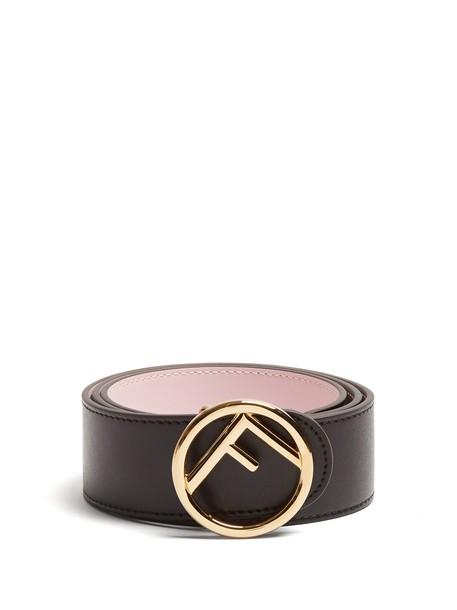 Fendi belt leather black