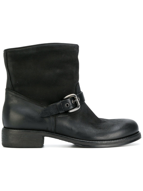 STRATEGIA women boots leather black shoes
