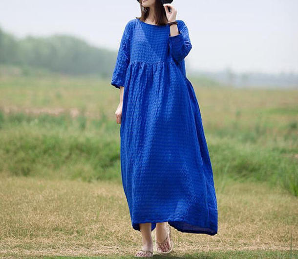 dress royal blue dress