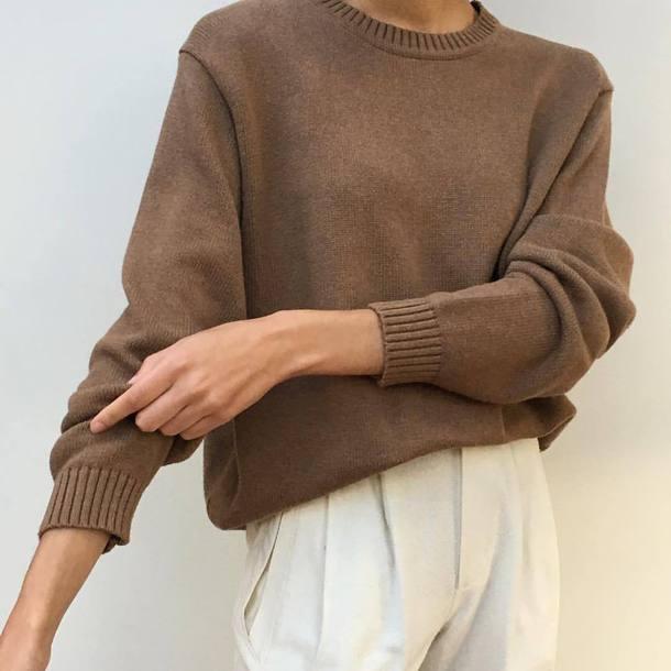 sweater brown sweater