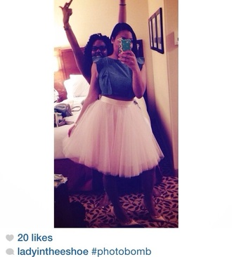 skirt tulle skirt fashion style