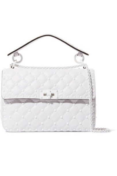 Valentino quilted bag shoulder bag leather white
