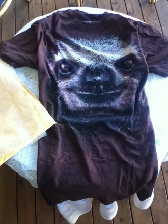 shirt sloth brown clothes face heels tumblr