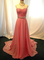 Aliexpress.com : buy pretty simple pearl pink long prom dresses with beadings long prom gown formal dresses evening dresses from reliable evening dresses suppliers on dressanswer