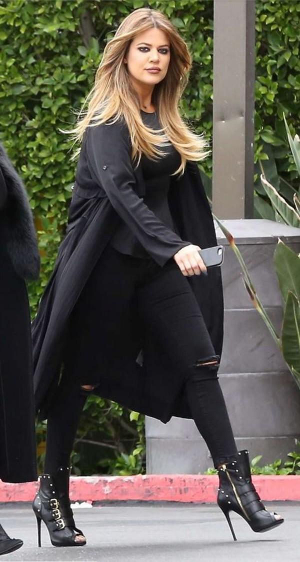 jeans top khloe kardashian coat shoes