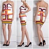 dress,lost souls,bandage dress,colorful dress,strapless,strapless dress,line patterns,mini dress,sexy dress,flattering,bodycon dress,fall outfits,stunning dress
