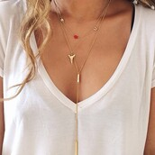 jewels,necklace,gold,t-shirt