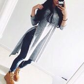 t-shirt,skinny jeans,timberlands,timberland,jeans,top,gris,long dress,shirt,grey,grey top,long top,fashion,grey t-shirt,long tops,timberland boots shoes,slit,style,dress,long sleeves,long sleeve shirt,hat,tank top,grey dress,grey beanie,beanie,iphone cover,sweater,grey sweater,pullover,longsleeve shirt,dope,cute,summer,long  shirt,clothes,blouse,side split,slit top,split shirt,double split shirt,shoes,skirt,lomgsleeved,marl,ribbed,asymmetrical,asymmetrical dress,asymmetrical top,iphone case,long,bag,swag