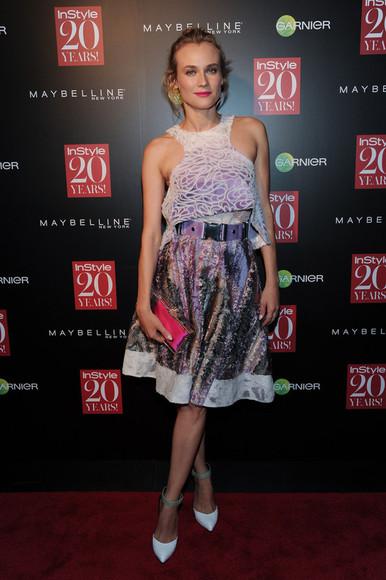 dress diane kruger fashion week 2014