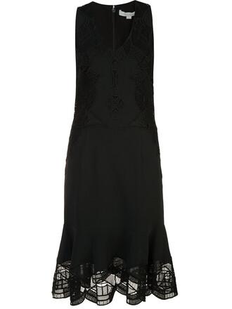 dress sheer women spandex black