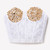 Gold Studded Lace Bustier - White   RUNWAYDREAMZ