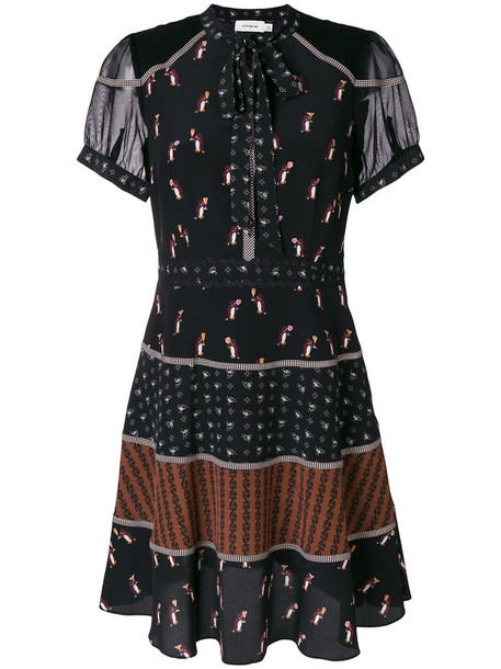 coach dress women black silk