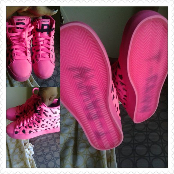 shoes Reebok blac chyna pink black tyga