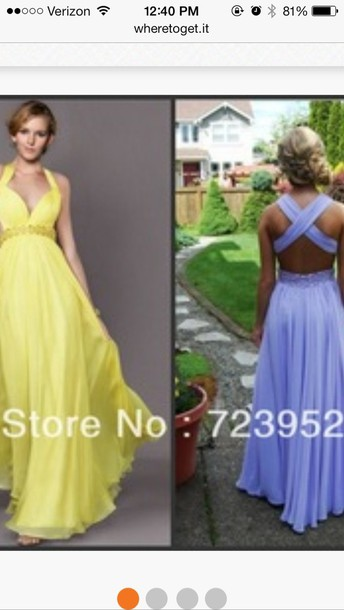 Lavender Cross Back Prom Dress