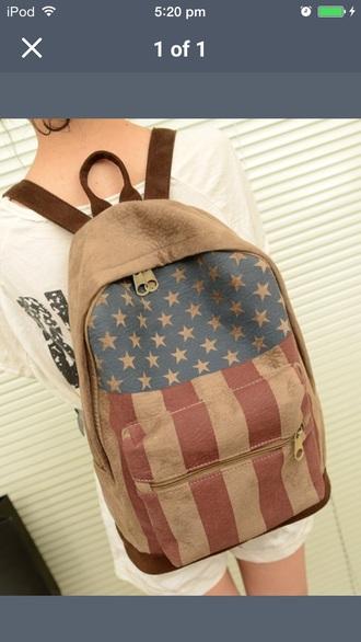 backpack american flag