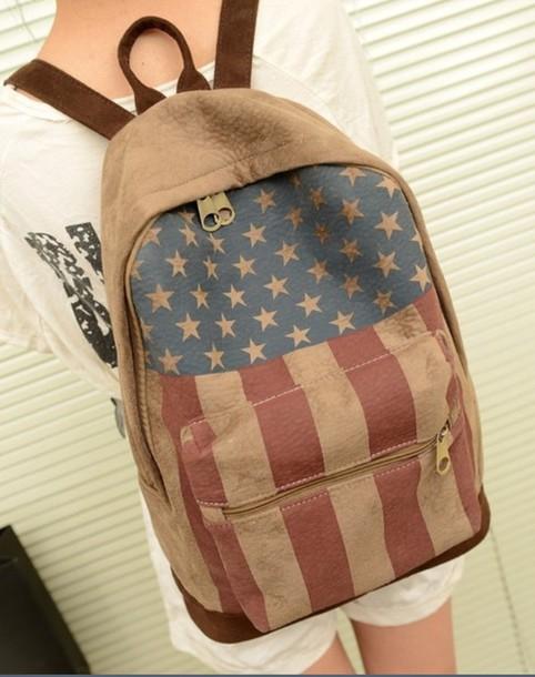 backpack american flag bag