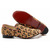 leopard christian louboutin rollerboy flat spikes gold women flat shoes