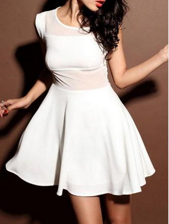 white dress pink decoration dress mini dress white 2014 full length forever hill model heart ball sparkle sequins