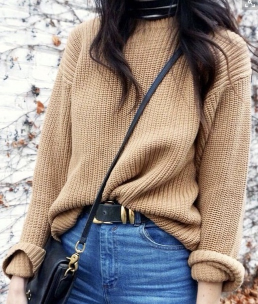 sweater yellow oversized sweater