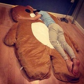 bedding,sleep,cute,brown,bear,pretty,stuffed animal