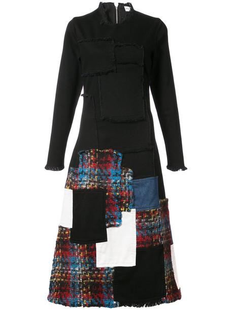 Sonia Rykiel dress women spandex cotton black