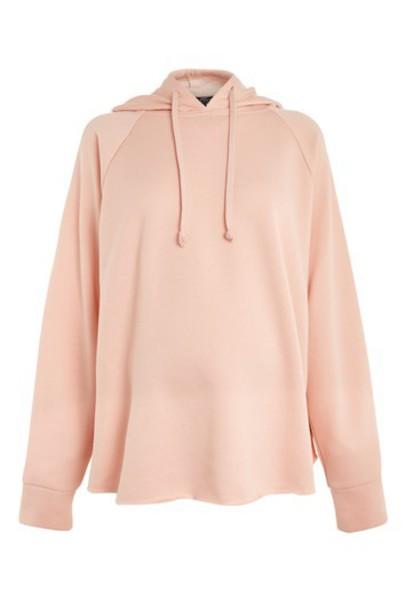 Topshop hoodie blush sweater