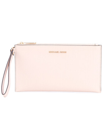 women clutch leather nude bag