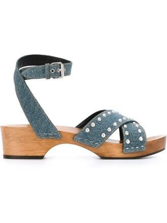 denim studded sandals blue shoes