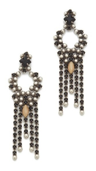 matte earrings silver nude black matte black jewels