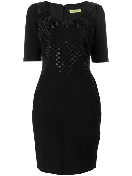 Versace Jeans dress embellished dress women spandex embellished black